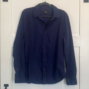 7 For All Mankind Long Sleeve Button Down Shirt